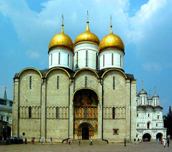 KREMLIN WITH ASSUMPTION CATHEDRAL AND AMORY CHAMBER