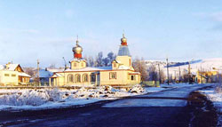 Traditional Church in Winter