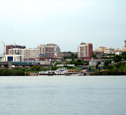 Novosibirsk. River view.