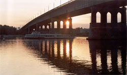 Leningrad bridge over the Irtysh