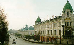 Lyubinsky Avenue, 'Moscow' merchant row in Omsk