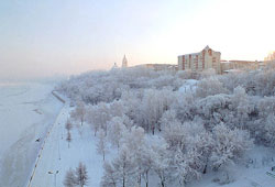 Perm covered by snow