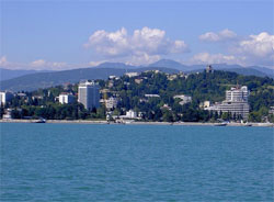 View on Sochi from the Black Sea